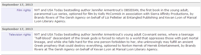 Jennifer L. Armentrout movie news