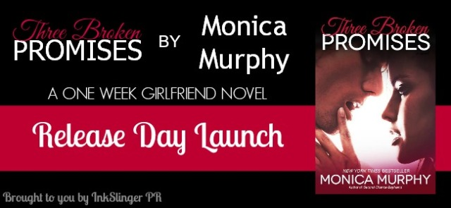 Three Broken Promises Release Day Launch Banner