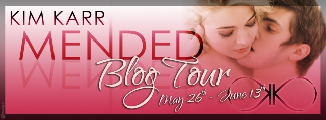 Mended blog tour banner