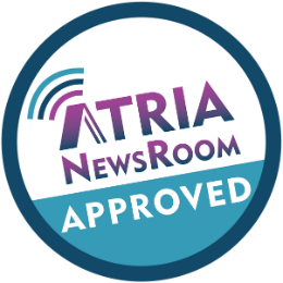 Atria Blogger Badge button
